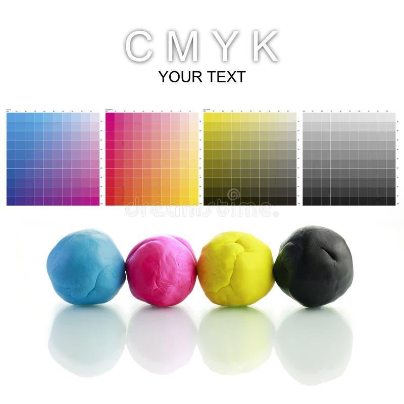 Pâte à modeler de CMYK photographie stock