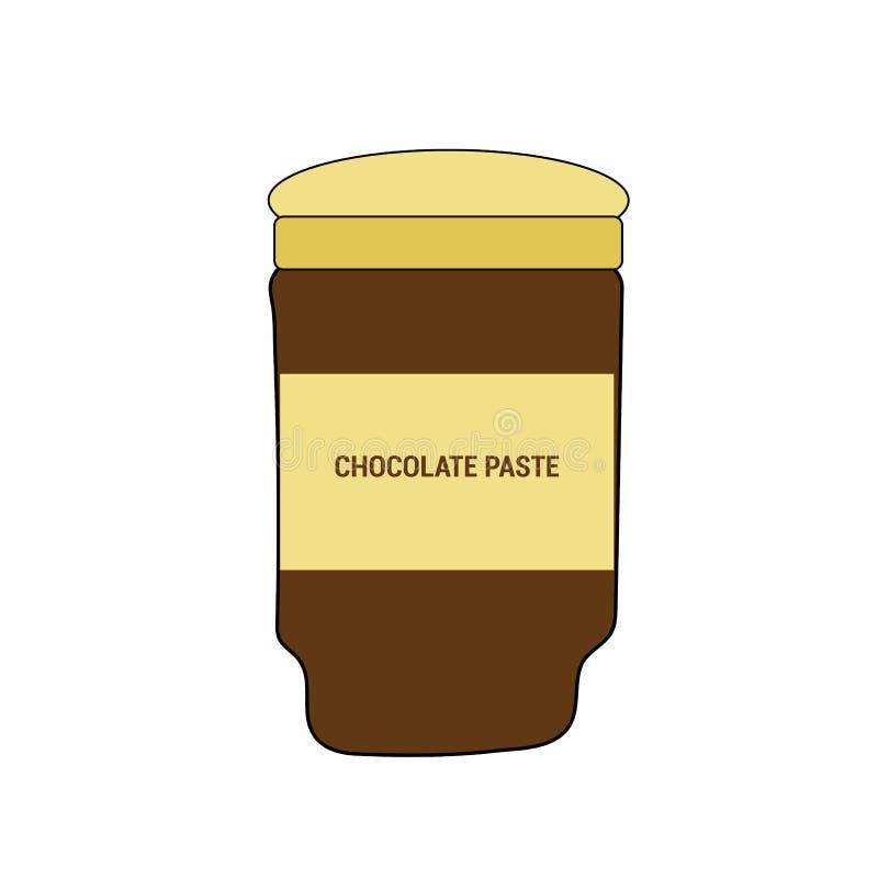 Pâte délicieuse de chocolat illustration de vecteur