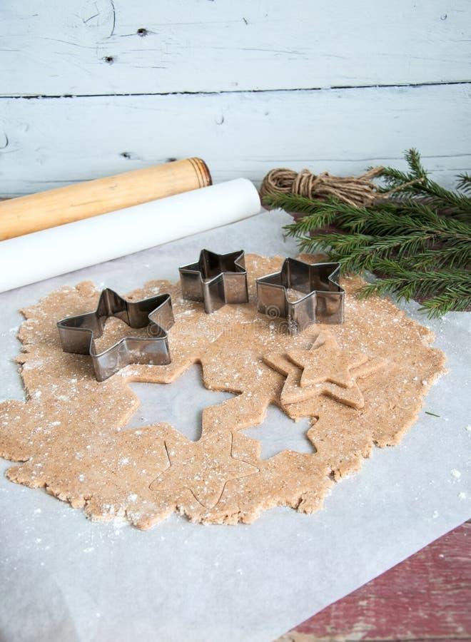 Pâte de pâte lisse de pain d'épice photographie stock libre de droits