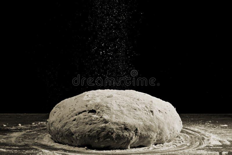 Pâte et farine b/w image libre de droits