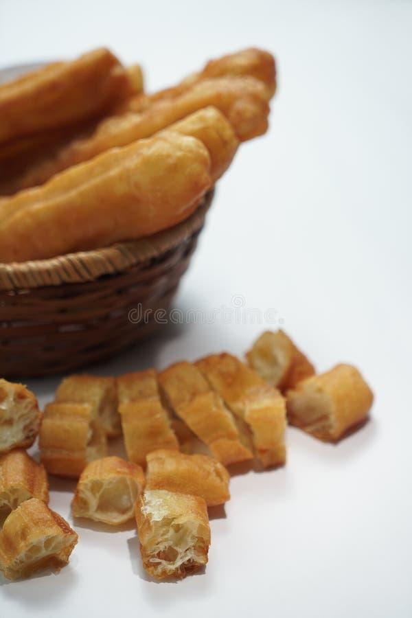 Pâte frite par Chinois images stock