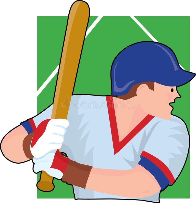 Pâte lisse de base-ball illustration de vecteur