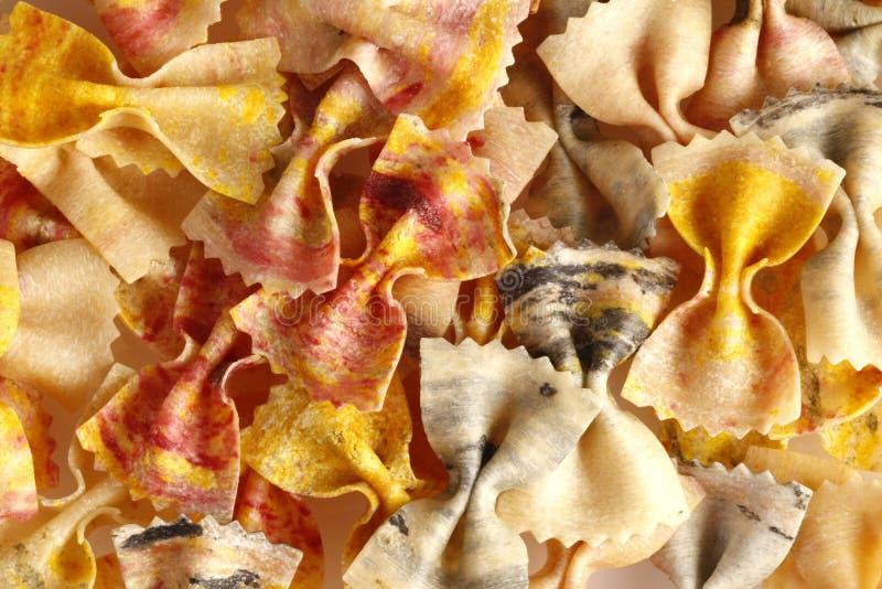 pâtes colorées d'Italien de farfalle image libre de droits