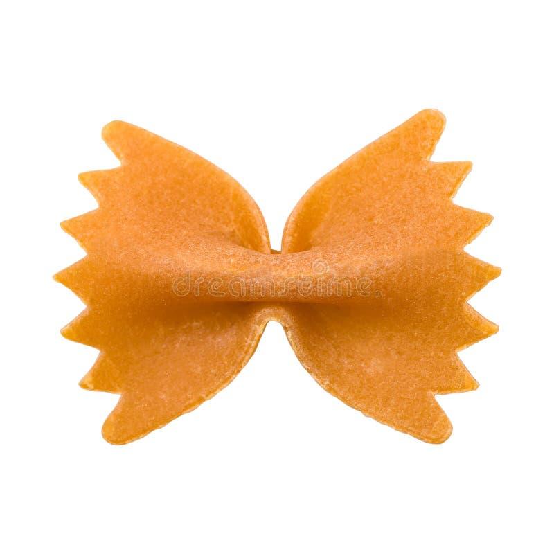 Pâtes de Farfalle d'isolement. photo stock