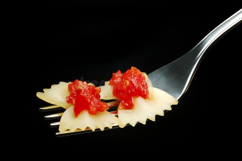 Pâtes et tomate italiennes image stock