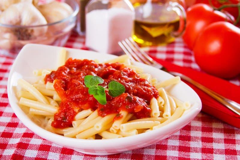 Pâtes italiennes de macaronis image libre de droits
