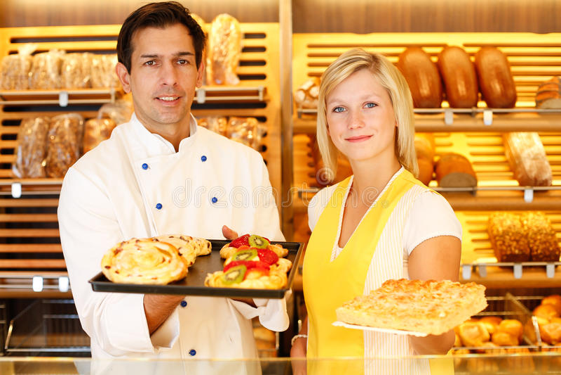 Pâtisserie actuelle de Baker et de commerçant photo libre de droits