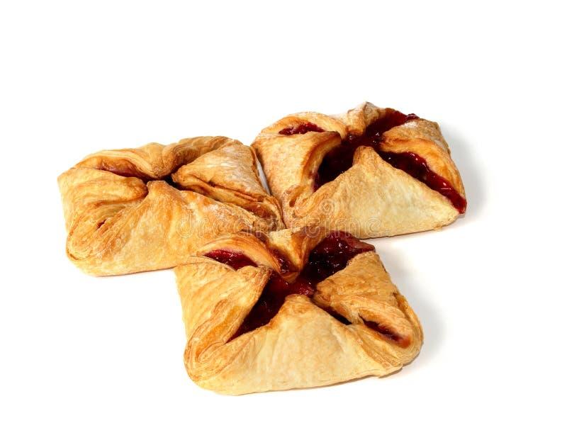 Pâtisserie avec de la confiture de cerise photographie stock libre de droits