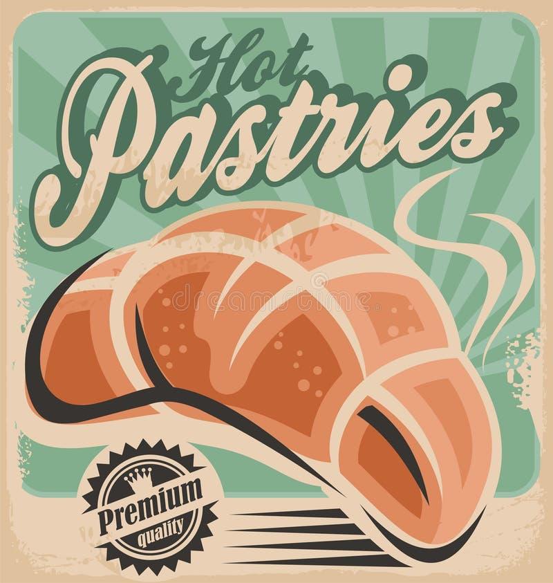 Pâtisseries chaudes illustration de vecteur