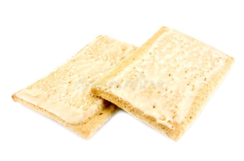Pâtisseries de déjeuner de grille-pain photos libres de droits