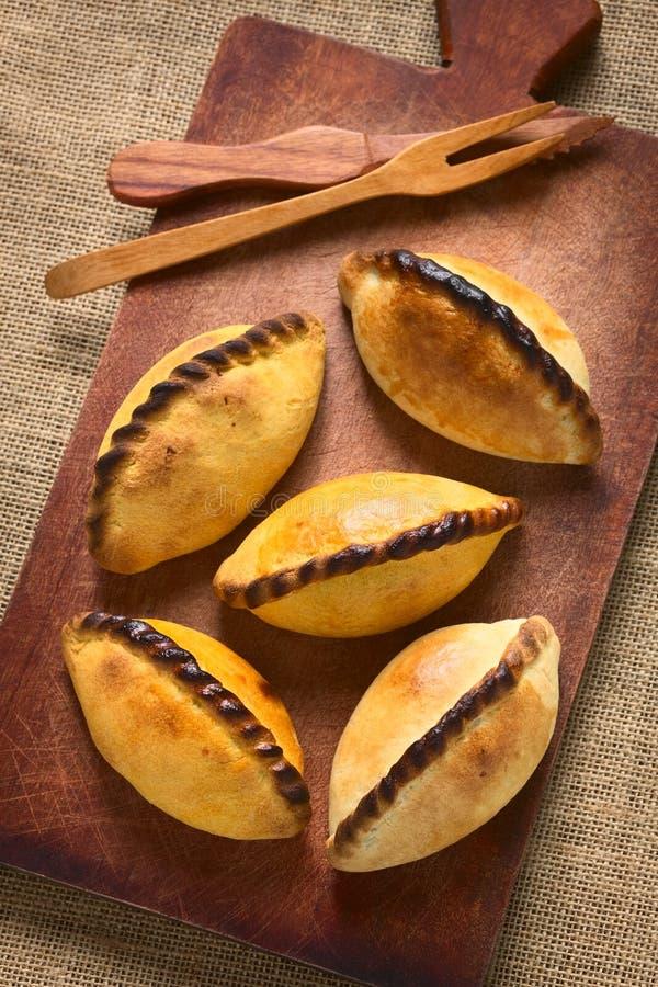 Pâtisseries de viande de Saltena de Bolivien photo libre de droits