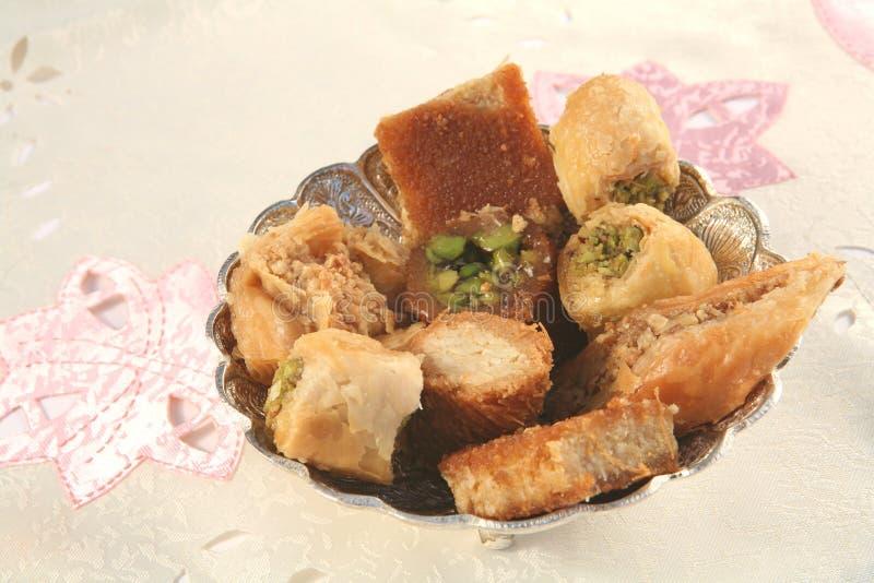 Pâtisseries douces arabes photographie stock libre de droits
