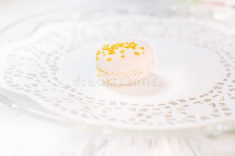 Pâtisseries françaises de Macarons photographie stock