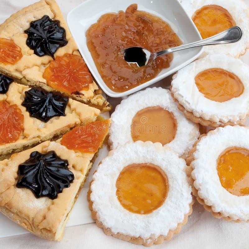 Pâtisseries italiennes pour les casse-croûte et le petit déjeuner image libre de droits