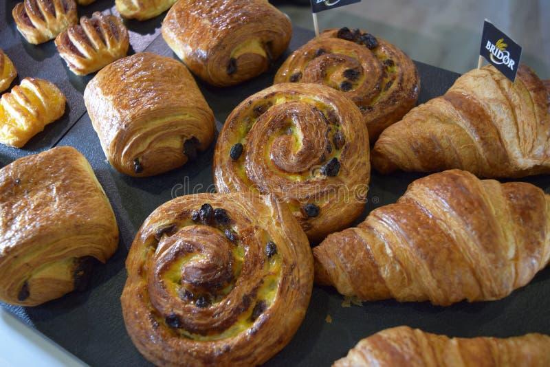 Pâtisseries, pâtisserie danoise, Au Chocolat, pain de douleur image libre de droits
