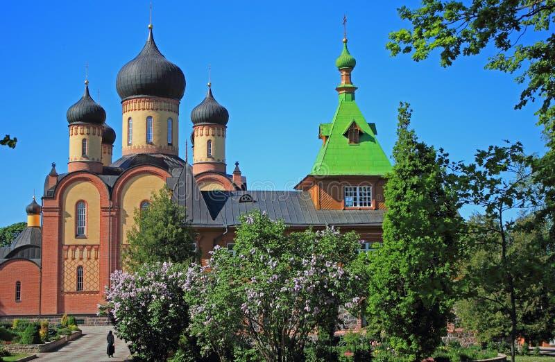 PÃ-¼ htitsa Kloster, Kuremäe, Estland, baltische Staaten lizenzfreies stockfoto