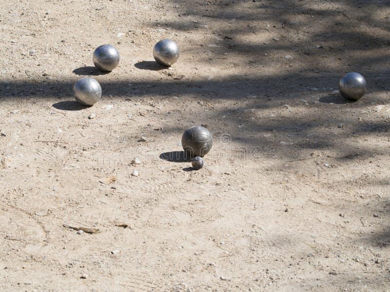 Pétanque球,法国 免版税库存图片