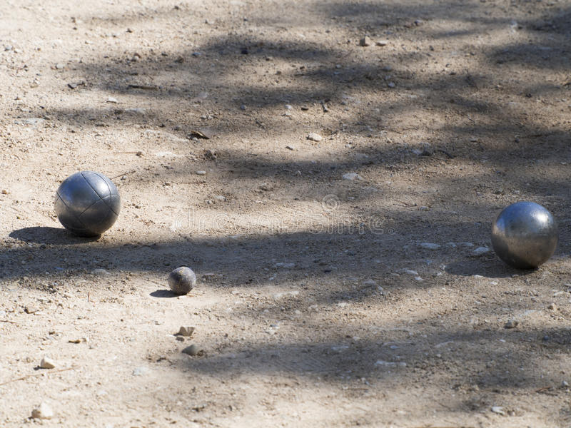 Pétanque bollar, Frankrike royaltyfria bilder
