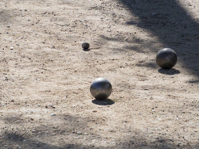 Pétanque piłki, Francja fotografia royalty free