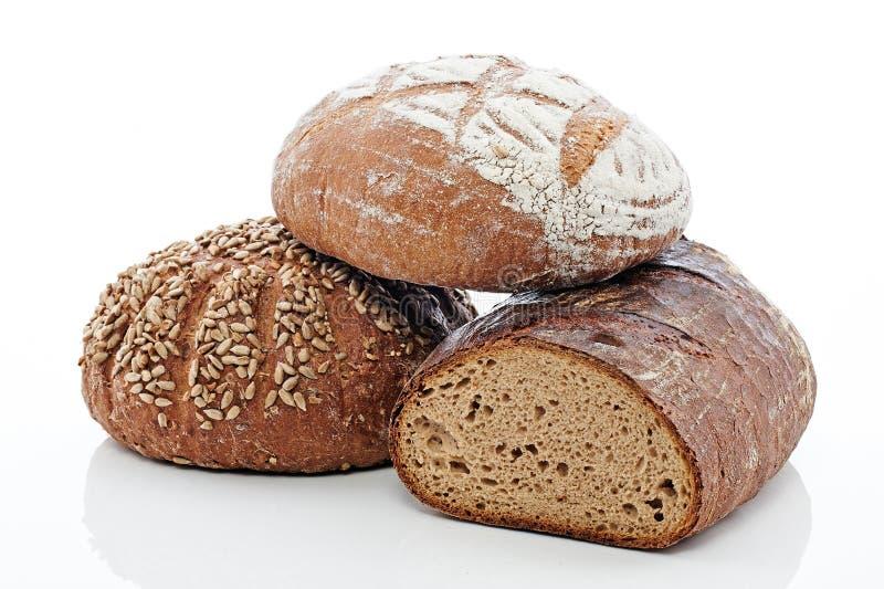 3 pães imagens de stock