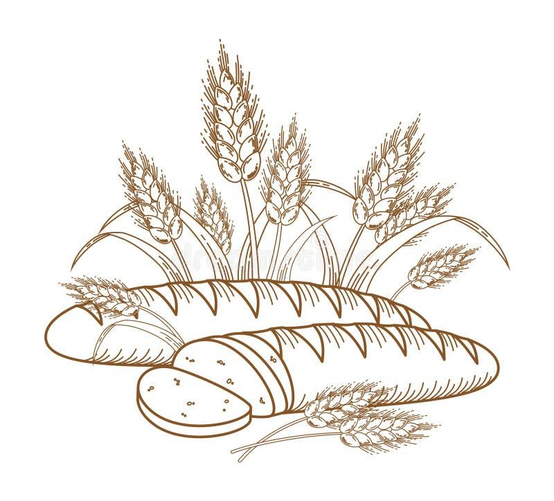 Pão ilustração stock