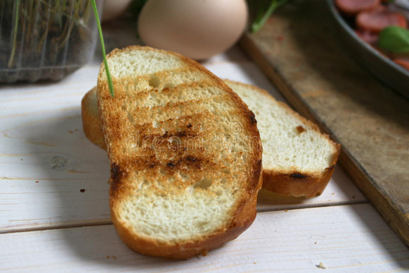 Pão branco Roasted foto de stock royalty free