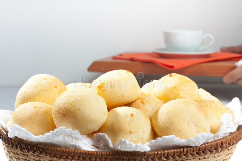 Pão brasileiro do queijo Pao de Queijo imagem de stock royalty free