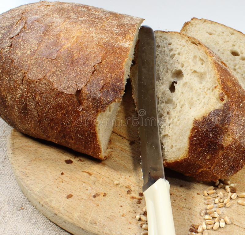 Pão caseiro de Rye fotos de stock