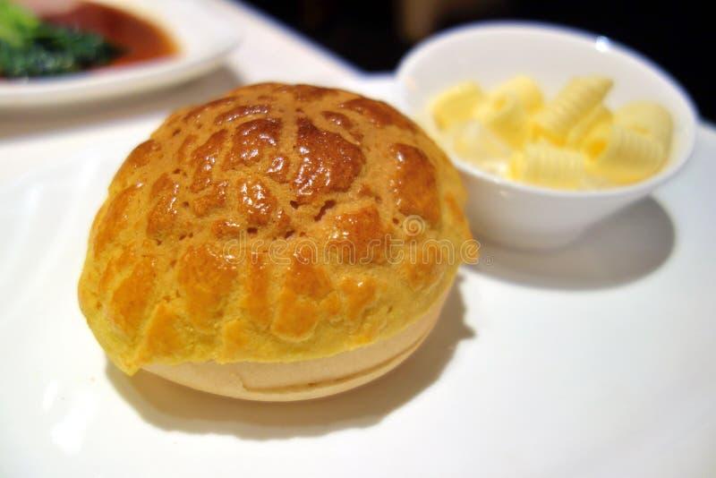 Pão chinês, bolo do abacaxi imagem de stock