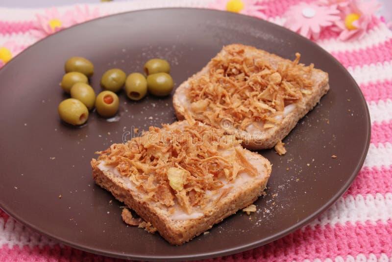 Pão com banha imagem de stock