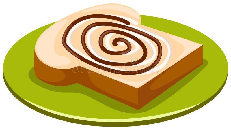 Pão com chocolate ilustração stock