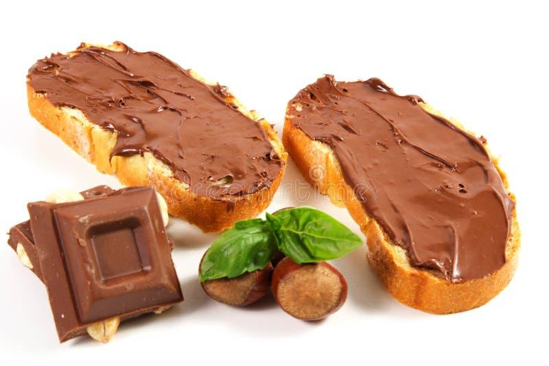Download Pão com creme do chocolate imagem de stock. Imagem de alimento - 26522729