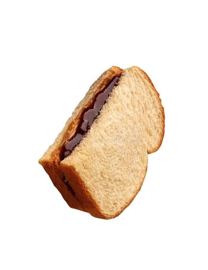 Pão com creme do chocolate foto de stock royalty free