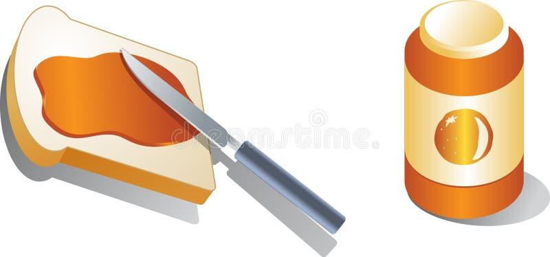 Pão com propagação ilustração royalty free
