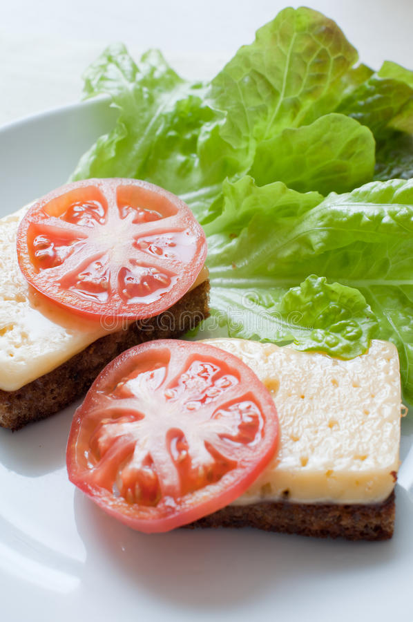 Pão com queijo fotografia de stock