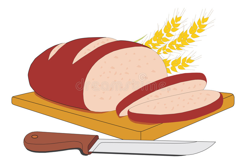 Pão cortado ilustração stock