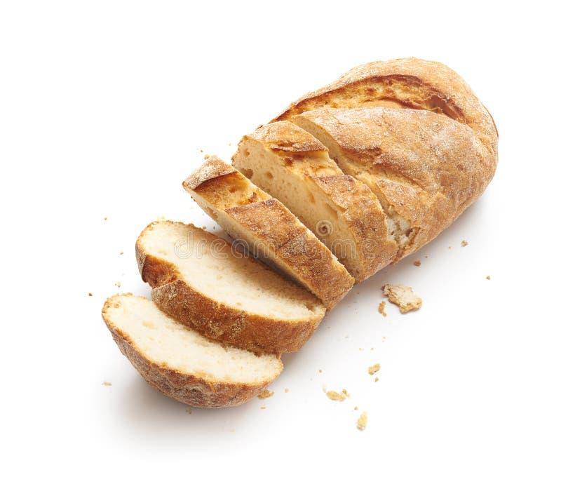 Pão cortado isolado imagem de stock royalty free