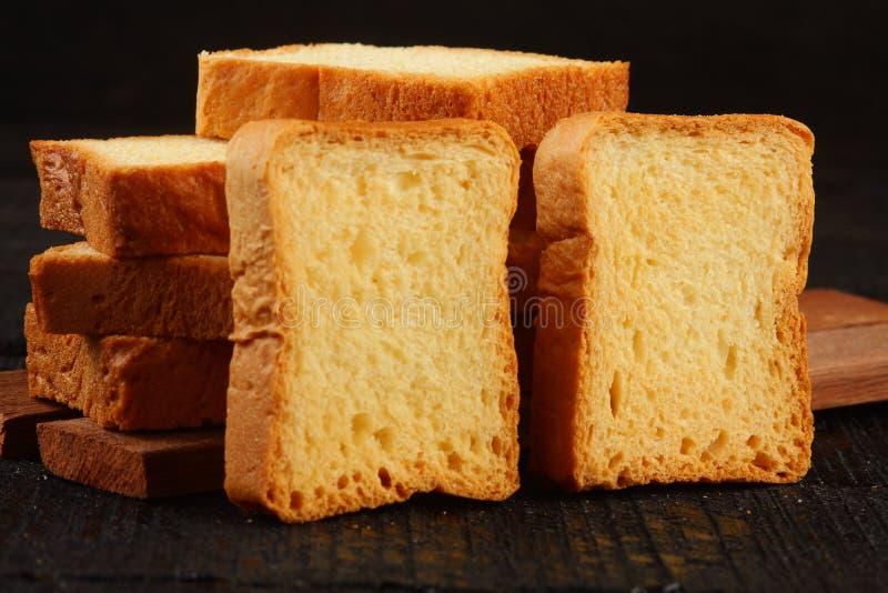 Pão cozido friável do biscoito fotografia de stock
