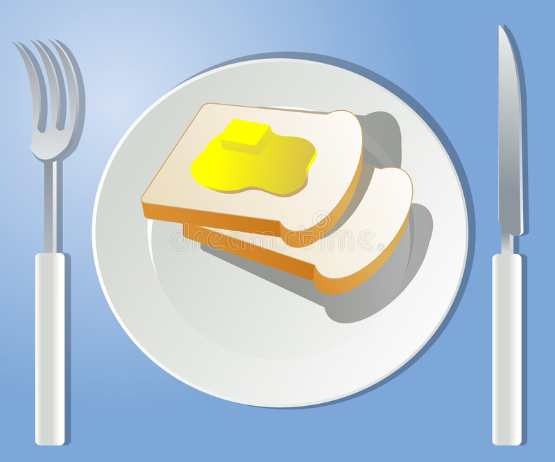 Pão da manhã ilustração do vetor