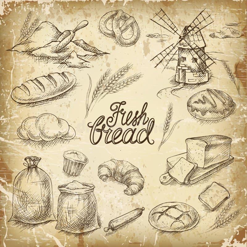 Pão da padaria ilustração royalty free