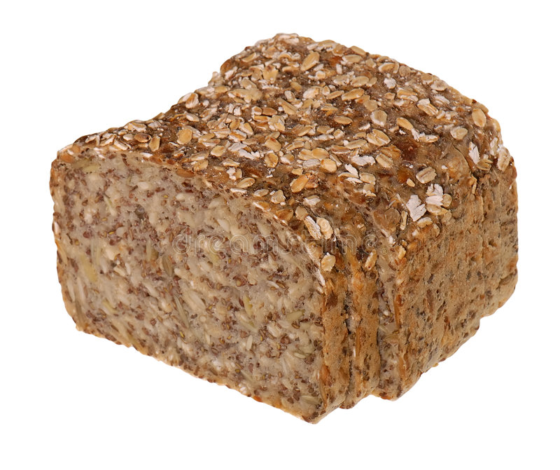 Pão de Brown com sementes fotografia de stock