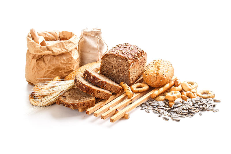 Pão de centeio recentemente cozido fotografia de stock