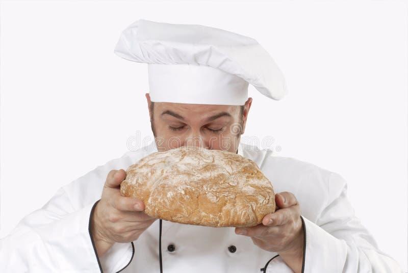 Pão de cheiro do cozinheiro fotos de stock
