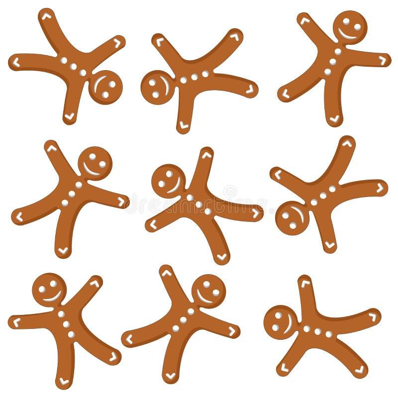 Pão-de-espécie cookies_01 ilustração do vetor
