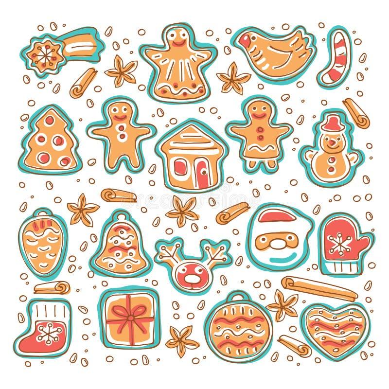 Pão-de-espécie cookies-01 ilustração royalty free
