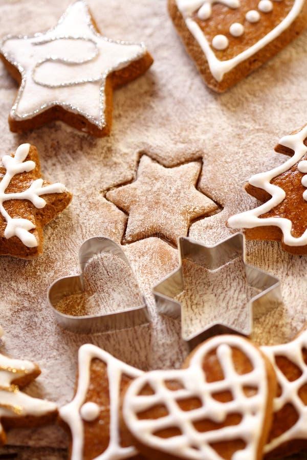 Pão-de-espécie do Natal imagem de stock