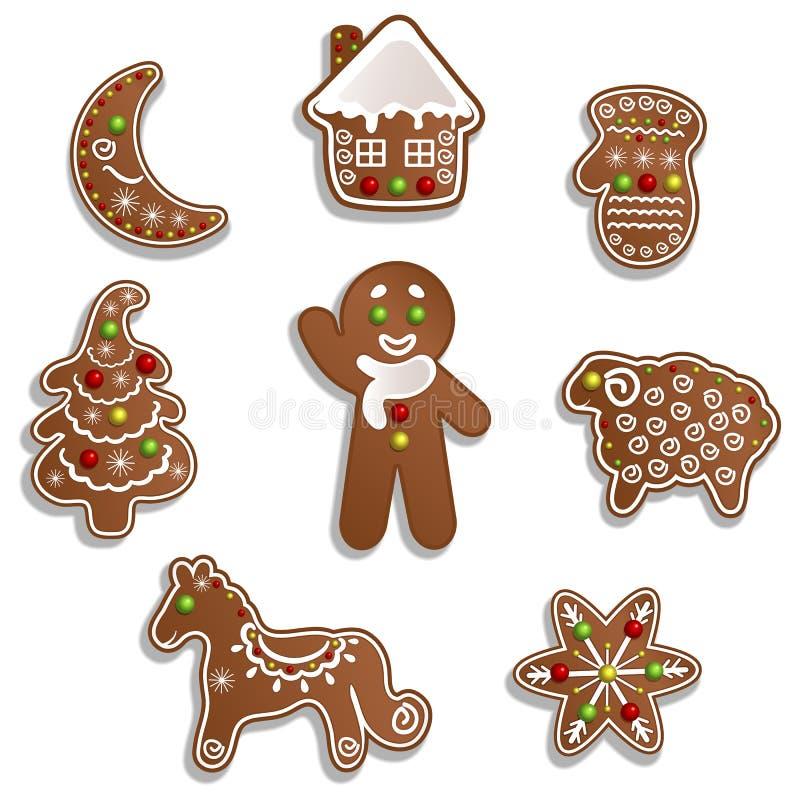 Pão-de-espécie do Natal ilustração do vetor