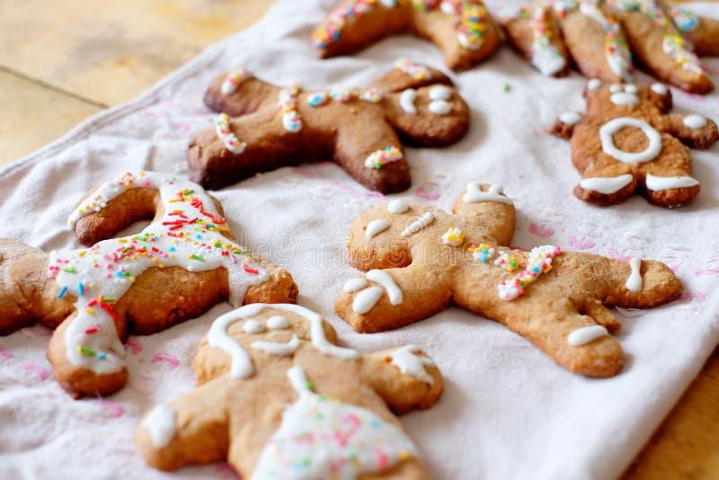 Pão-de-espécie do Natal, cookies fotos de stock