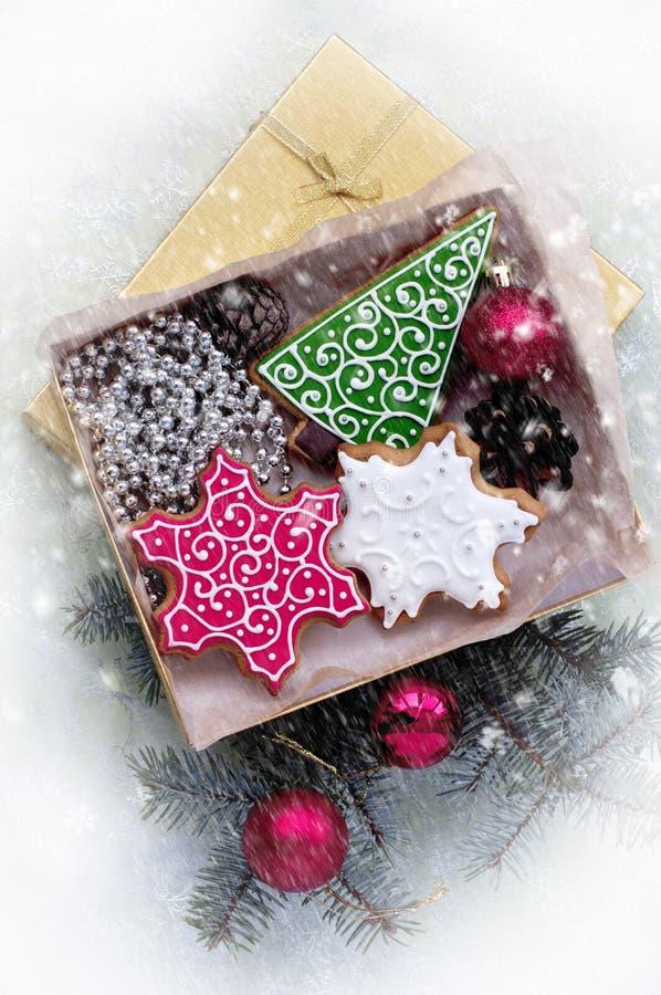 Pão-de-espécie do Natal sob a forma dos símbolos de um Natal imagens de stock royalty free