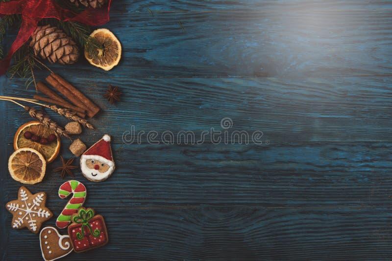 Pão-de-espécie para anos novos e Natal imagens de stock royalty free